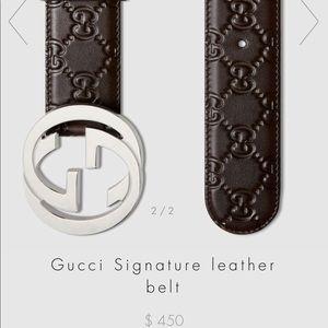 Authentic Signature Gucci Belt
